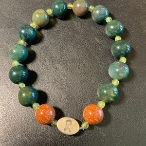 Jewelry - Jasper, Peridot, & Red goldstone Mindfulness Gems